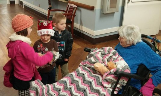 Christmas Caroling in a local care facility.